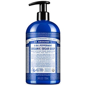 Dr. Bronner's 4-IN-1 Sugar Organic Pump Soap, Peppermint