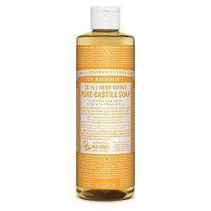 Dr. Bronner&#39;s 18-in-1 Hemp Pure-Castile Soap, Organic Citrus Orange, 16 fl oz