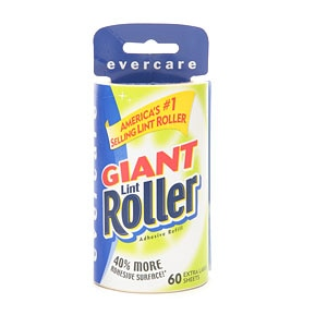 Evercare Giant Lint Roller, 60 Extra Large Sheets, Refill- 1 ea