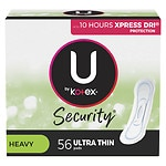 Kotex Natural Balance Ultra Thin Pads, Jumbo Pack, Long, 56 ea