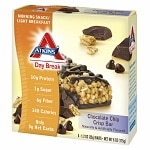 Atkins Day Break Snack Bars, 5 pk, Chocolate Chip- 1.3 oz