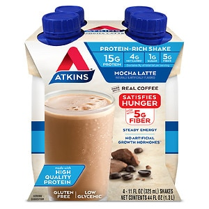 Atkins Advantage Shakes, 4 pk, Mocha Latte- 11 oz