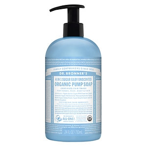 Dr. Bronner's 4-IN-1 Sugar Baby Organic Pump Soap, Unscented