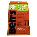 Ben's Tick & Insect Repellent Wipes, 30% Deet- 12 ea