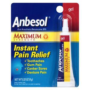 Anbesol Maximum Strength Oral Anesthetic Gel- .33 oz