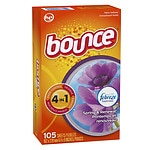 Bounce Fabric Softener Dryer Sheets with Febreze, Spring &