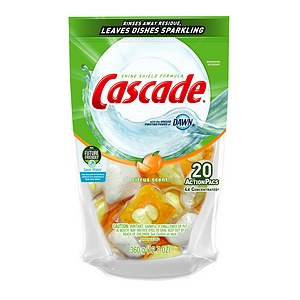 Cascade 2-in-1 ActionPacs with Dawn Dishwasher Detergent, Citrus Breeze