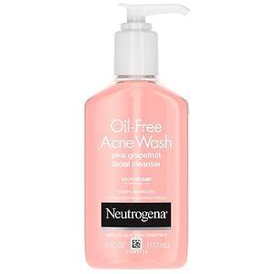 Neutrogena Oil-Free Acne Wash Facial Cleanser, Pink Grapefruit, 6 fl oz