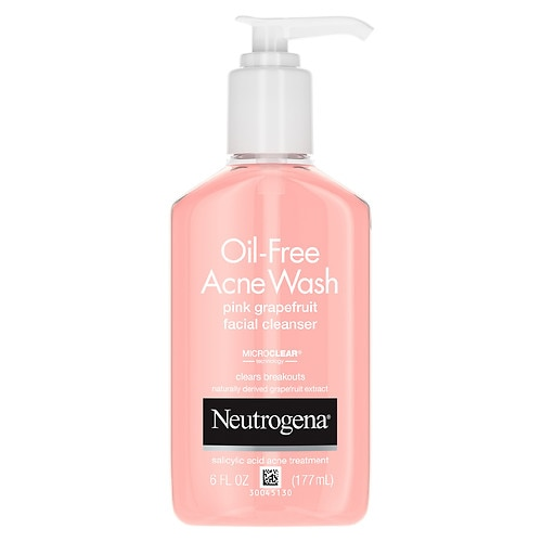 Neutrogena Oil-Free Acne Wash Facial Cleanser, Pink Grapefruit - 6 fl oz