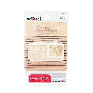 Scunci No Slip Grip Elastics, Blonde- 16 pcs