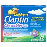 Claritin Children's, 24 Hour Allergy, Tablets, Grape