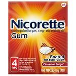 Nicorette Nicotine Gum, 4 mg, Cinnamon Surge- 160 ea