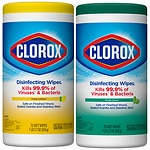 Clorox Disinfecting Wipes Canister, Value 2 Pack, Lemon Fresh