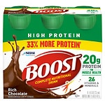 Boost High Protein Complete Nutritional Drink, Bottles, Rich Chocolate