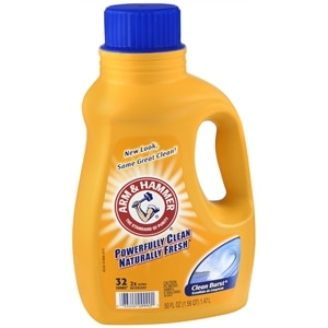 Arm & Hammer Liquid Laundry Detergent 2X Concentrated, 32 Loads, Clean Burst