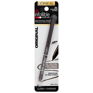 L'Oreal Infallible Never Fail Eyeliner, Black Brown 581