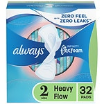 Always Infinity Pads with Flexi-Wings, Unscented, Heavy, 32 ea