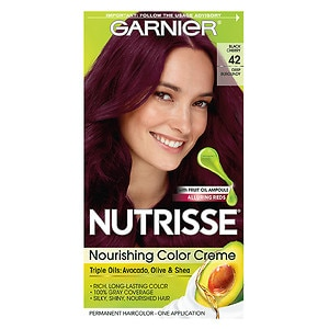 Garnier Nutrisse Permanent Haircolor, Deep Burgundy 42 (Black Cherry)