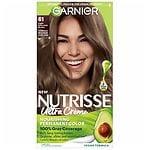 Garnier Nutrisse Permanent Haircolor, Light Ash Brown 61