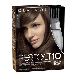 Clairol Nice 'n Easy Perfect 10 Permanent Hair Color, 006 Light Brown