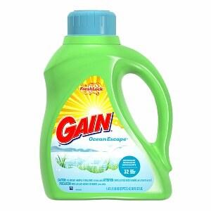 Gain Liquid Detergent with Fresh Lock, 32 Loads, Ocean Escape, 50 fl oz (037000127642)