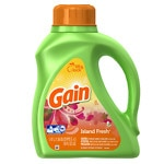 Gain HEC with FreshLock Island Fresh Liquid Laundry Detergent, 32 Loads- 50 fl oz
