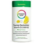 Rainbow Light Vitamin D3 1,000 IU Sunny Gummies, Sour Lemon