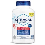 Citracal Calcium Citrate with Vitamin D Maximum, Coated Tablets- 180 ea