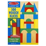 Melissa and Doug 100 Wood Blocks Set, Ages 3+
