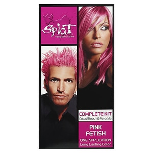 Splat Hair Color Complete Kit, Pink Fetish, 1 application