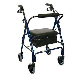 Drive Medical Mimi Lite Rollator Walker, Flame Blue