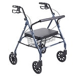 Drive Medical Heavy Duty Bariatric Rollator Walker with Large
