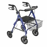 Drive Medical DLite Rollator Walker with Loop Brakes, 8 Inch