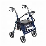 Drive Medical Duet Transport Chair/Rollator, Blue