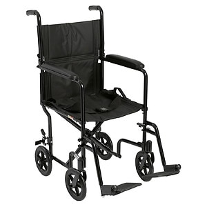 Drive Medical Lightweight Transport Wheelchair, Black