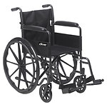 Drive Medical Silver Sport 1 Wheelchair with Full Arms and Swing