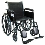 Drive Medical Silver Sport 2 Wheelchair with Elevating Foot Rest, 16 inch- 1 ea