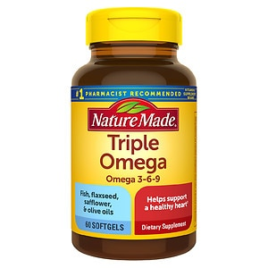 Nature Made Triple Omega, Softgels- 60 ea