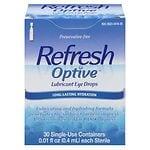 Refresh Optive Lubricant Eye Drops- 30 ea