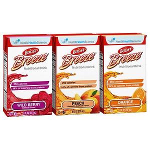Boost Breeze Resource Drink, Variety Pack, 8 oz Cartons, 27 pk- 8 oz