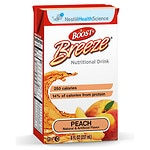Boost Breeze Resource Drink, Peach, 8 oz Cartons, 27 pk- 8 oz