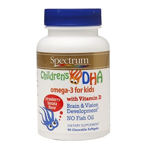 Spectrum Essentials Children's DHA, Chewable, Strawberry Banana, 90 ea