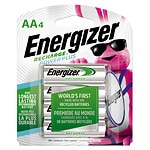 Energizer Recharge Batteries, AA- 4 ea