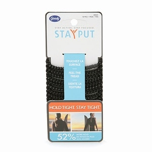 Goody StayPut Elastics, Black- 10 ea
