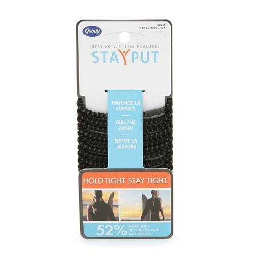 Goody StayPut Elastics, Black - 10 ea