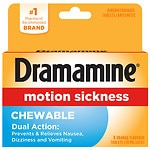 Dramamine Chewable Formula Tablets, Orange- 8 ea