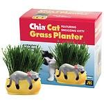 CHIA Cat Grass Handmade Decorative Grass Planter, Snoozing