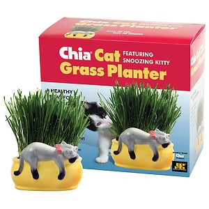 CHIA Cat Grass Planter - Snoozing Kitty