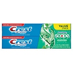 Crest Complete Multi-Benefit Toothpaste, Whitening Plus Scope, Twin Pack, Minty Fresh Stripe