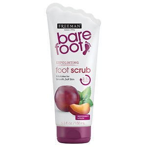 Freeman Bare Foot Creamy Pumice Foot Scrub, Invigorating Peppermint & Plum